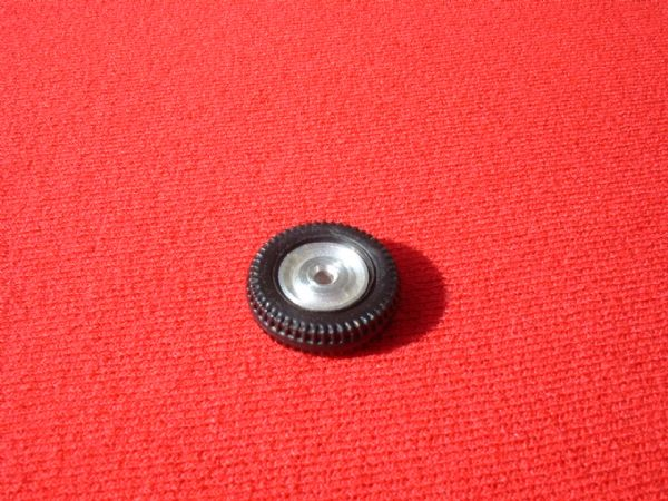 Dinky Toys 102 Joe 90 Spun Aluminium Hub with it's tyre (Each)